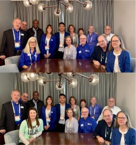 A photo taken with NAVC board members and other NAVC 2019 Scholars