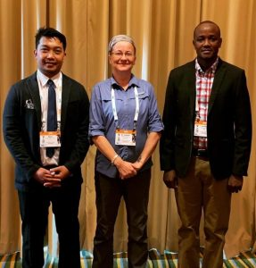 A photo with fellow NAVC 2019 Scolars, Dr. Ryan And Dr. Isabella